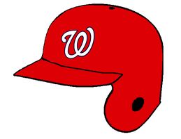 Washington Nationals home batting helmet by Chenglor55