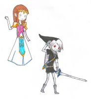 PaperChild: Zelda and DarkLink by xxBoogiePopxx