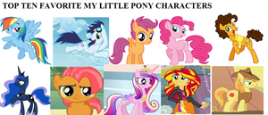My Top Ten Favorite My Little Pony Characters by SmoothCriminalGirl16