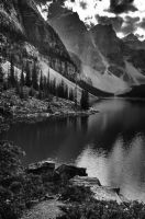 Morain Lake BW by GoTcHaSuCcA