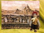 Bilbo in the Lake town by Ainaven