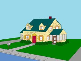 The Griffin's house by FamilyGuyAmericanDad