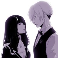 [Death Parade]Decim and Chiyuki by saeko-doyle