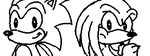 Miiverse Doodle - 'Sonic and Knuckles' by JenHedgehog