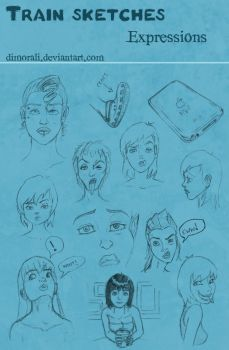Train Sketches: Expressions by dimorali