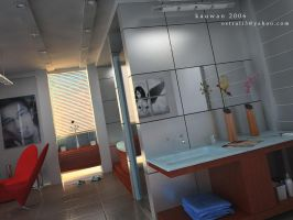the bathroom another view by dwiirawan