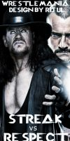 Cm Punk Vs The Undertaker by RijulWallpapers