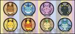 Eeveelution Badge Sets by kappapillon