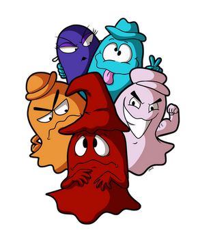 Pac Man Ghost Monsters by xkappax