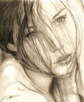 Portrait of Jessica Biel by DeadInTheAttic