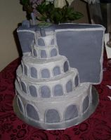 Minas Tirith Wedding Cake 3 by bronze-dragonrider