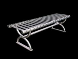 Metal Bench by aphasia100stock