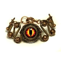 Fire Dragon eye bracelet by CatherinetteRings