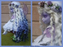 monster high custom repaint Nightmyst fairy mh by Rach-Hells-Dollhaus
