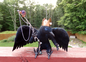 The Crow King Art Doll by DancingVulture