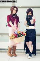 Aerith Gainsborough and Tifa Lockhart Cosplay by Aerithflowergirl5678
