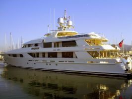 Yacht docked in Monterey CA by Partywave