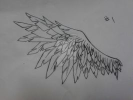 Wing Tattoo Design by ariathegoddess1