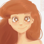 her eyes were sparkling with a normal normality by fylocali