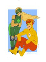 kid flash and artemis by may12324