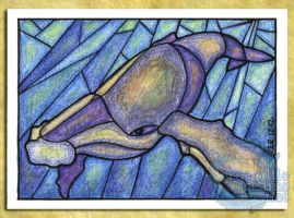 ACEO/ATC: Humpback Whale by crocodiledreams