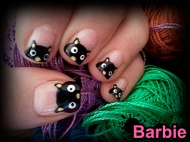 Black Cat Nails by BarbieNailArt