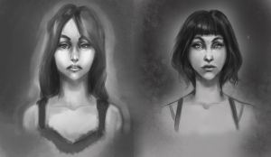 Two portraits by UninvitedChaos