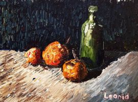 Still life with fruits and bottle by VLStone
