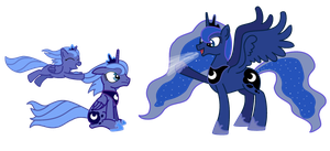 The Many Faces Of Luna by ProtoMixup
