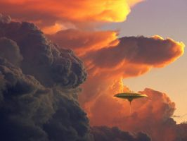 Cloud city at sunset by Balsavor