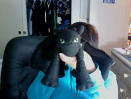 Toothless plushie part 1 by galestormKitsune