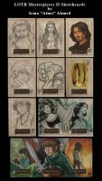 LOTR MII Sketchcards by aimo