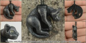 Cat Necklace by Chaotica-I
