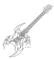 Electric Guitar design by Tionniel