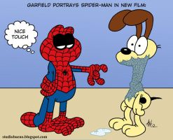 Garfield Plays Spider-Man by StudioBueno