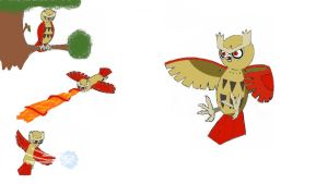 Swoop the Noctowl by Pingpongalong