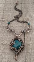 Copper wire fairy necklace with natural gems by TangledWorld