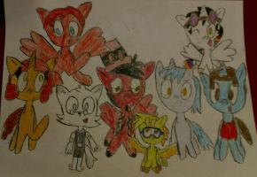 A bunch of MLP youtubers and an artist by fairygirl04