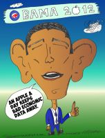 Binary Options News Obama 2012 Editorial Cartoon by optionsclickblogart