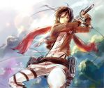 Attack on Titan-Mikasa inkstyle by Gin-Uzumaki