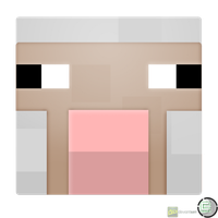 Minecraft - Sheep Head Icon by CoopaD