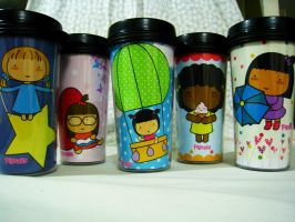 Pigtails Tumblers by jazgirl