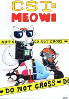 Funny cat CSI MEOWI commission for CSINorman by KingZoidLord