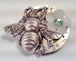 Steampunk Beetle Brooch by SteamDesigns