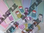 Gueixa bookmarks and stickers by Ivy-Mitsuno
