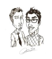 Jake and Amir by weaseltear