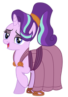 Starlight Glimmer as Megara by CloudyGlow