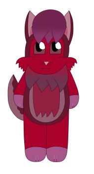 Chibi Color Monster Dark Red the Furby by Vickicutebunny