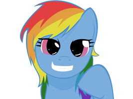 Stupid Sexy Rainbow Dash Vectored by SoupInsanity