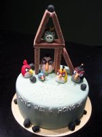 Angry Birds Cake by Sliceofcake